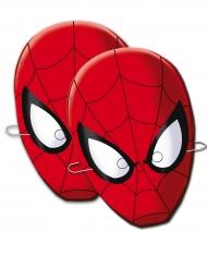 6 kartonnen Spiderman™ maskers
