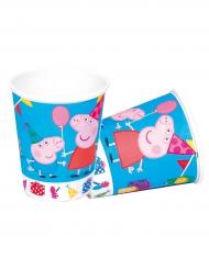 8 Peppa Pig™ bekers van karton