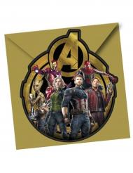 6 Avengers Infinity War™ uitnodigingen