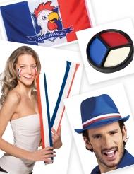 Rode witte en blauwe supporterset