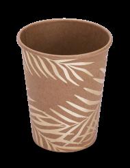 8 goudkleurige palmboom kartonnen kraft bekers