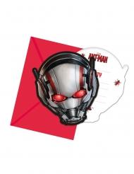 6 Ant-Man™ uitnodigingen en enveloppen