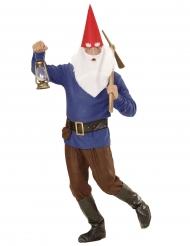 Blauw kabouter kostuum voor volwassenen