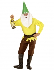 Geel tuinkabouter kostuum voor volwassenen