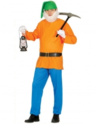 Oranje dwerg kostuum voor volwassenen
