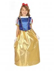 Satijnachtig bos prinses kostuum voor meisjes