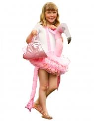 Roze flamingo carry me kostuum voor meisjes