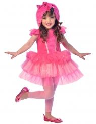 Roze flamingo kostuum voor meisjes