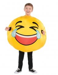 Hard lachende emoticon kostuum voor kinderen