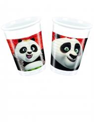 8 plastic Kung Fu Panda 3™ bekers