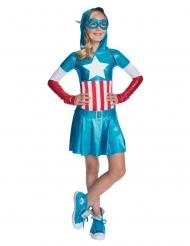 Metallic Captain America™ kostuum voor meisjes