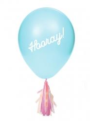 8 latex ballonnen met stickers en franjes