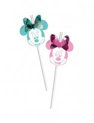 6 premium Minnie™ rietjes met afbeelding