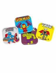 4 kartonnen premium Avengers™ borden