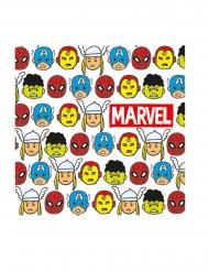 20 papieren premium Avengers™ comic servetten