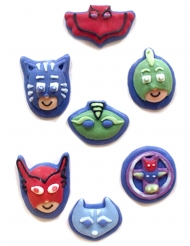 7 PJ Masks™ mini suiker figuurtjes