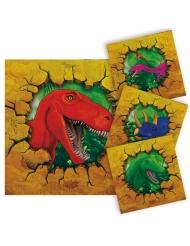 16 kleine papieren dinosaurus servetten