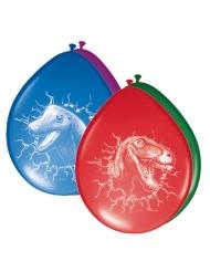 6 veelkleurige latex dinosaurus ballonnen