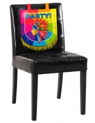 Kartonnen indiaan stoel decoratie