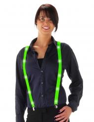 Fluo groene LED bretels voor volwassenen