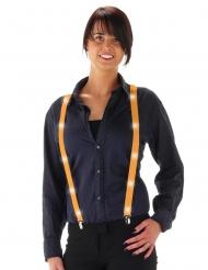Fluo oranje LED bretels voor volwassenen