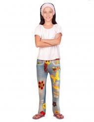 Flower Power jean legging voor kinderen