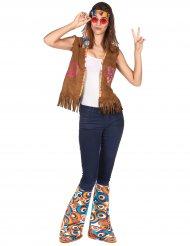 Klassieke retro hippie accessoire set voor volwassenen