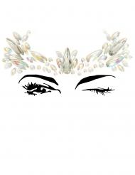 Veelkleurige kroon gezichtsjuwelen voor volwassenen