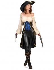 Bruine piraten tuniek voor dames