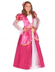 Roze middeleeuwse prinsessen jurk voor meiden