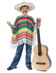 Gekleurde klassieke Mexicaanse poncho voor kinderen
