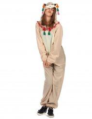 Lama kostuum met capuchon voor vrouwen