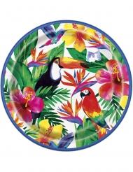 8 kartonnen tropische borden
