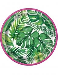 8 kleine tropische palm borden
