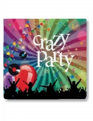 20 papieren Crazy Party servetten