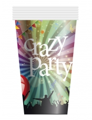 6 kartonnen Crazy Party bekers