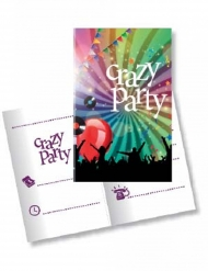 10 Crazy Party uitnodigingen en enveloppen