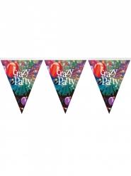 Plastic Crazy Party vlaggenslinger