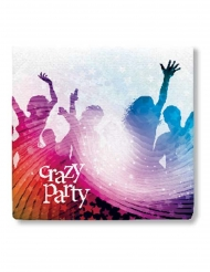 20 witte papieren Crazy Party servetten