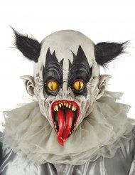 Zwart en wit duivels clown masker voor volwassenen
