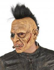 Latex punk masker met hanenkam voor volwassenen