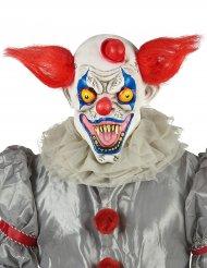 Rood wit en blauw horror clown masker voor volwassenen
