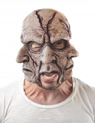 Latex masker met meerdere gezichten voor volwassenen
