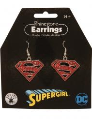 Supergirl™ oorbellen met strass
