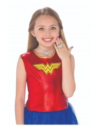 Wonder Woman™ oorbellen, ketting en ring