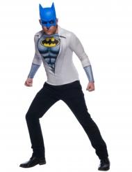 Batman™ t-shirt met blauw masker voor volwassenen