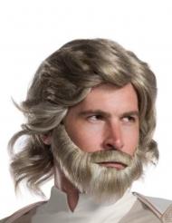 Luke Skywalker The Last Jedi™ pruik en baard voor volwassenen