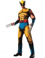 Deluxe gespierd Wolverine X-Men™ kostuum voor volwassenen