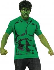 Groene Hulk pruik en t-shirt voor volwassenen