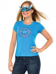 American Dream Captain America™ strass kostuum voor vrouwen